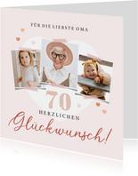 Geburtstagskarte Liebste Oma Fotocollage