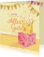 """Geburtstagskarte mit Geschenken """"Alles Gute"""""""
