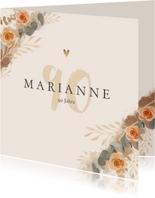 Geburtstagskarte orangene Rosen