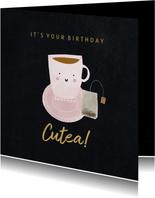 Geburtstagskarte Teetasse Cutea