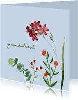 Gecondoleerd - bloem - condoleancekaart