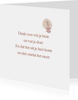 gedichtenkaart dank je wel