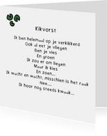 Gedichtenkaart Kikvorst - Gedicht