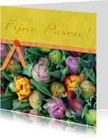 Geel met tulpen
