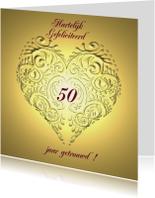 Gefeliciteerd 50 jr jubileum gouden hart