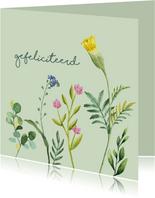 Gefeliciteerd bloem felicitatiekaart