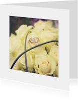 Felicitatiekaarten - gefeliciteerd huwelijk bloemen