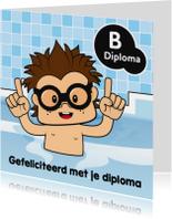 Gefeliciteerd jongen zwemdiploma 3