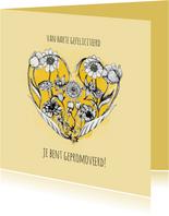 Gefeliciteerd met deze pracht prestatie - Bloemen kaart