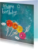 Gekke vissen die iemand een fijne verjaardag wensen