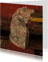 George Breitner. Meisje in witte kimono op sofa