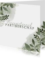 Geregistreerd partnerschap botanisch & waterverf trouwkaart