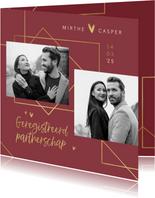 Geregistreerd partnerschap stijlvol goud hartjes foto's