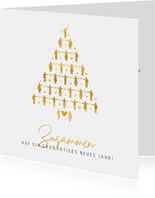 Geschäftliche Weihnachtskarte Corona - Zusammen stark