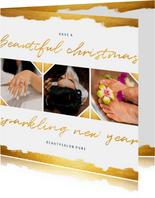 Geschäftliche Weihnachtskarte Fotocollage Salon