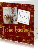 Geschäftliche Weihnachtskarte Logo und Foto