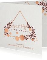 Geschäftliche Weihnachtskarte mit Dreieck