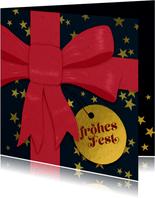 Geschäftliche Weihnachtskarte mit Schleife