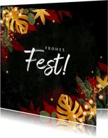 Geschäftliche Weihnachtskarte stilvoll & warm