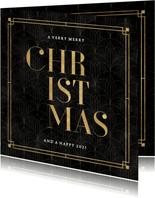Geschäftliche Weihnachtskarte vintage Muster 'Christmas'