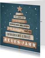 Geschäftliche Weihnachtskarte Wegweiser