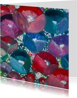 Geschilderde bloemen abstract