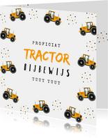 Geslaagd rijbewijs tractor confetti okergeel