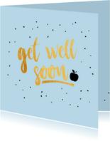 Get well -gold beterschapskaart