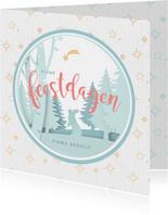 Gezellige zakelijke kerstkaart met papier look