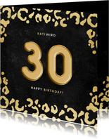 Glückwunschkarte 30. Geburtstag goldene 30