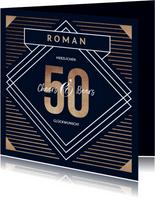 Glückwunschkarte 50. Geburtstag grafisch