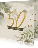 Glückwunschkarte 50 Jahre ein Paar
