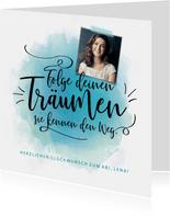 Glückwunschkarte Abitur mit Foto 'Träume'