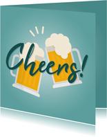 Glückwunschkarte Cheers mit Bier