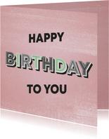 Glückwunschkarte Frau happy birthday to you retro