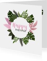 Glückwunschkarte Geburtstag Blumen & Pflanzen