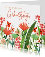 Glückwunschkarte Geburtstag Blumenwiese