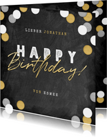 Glückwunschkarte Geburtstag große Konfetti