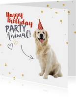 Glückwunschkarte Geburtstag Happy Birthday Partyanimal