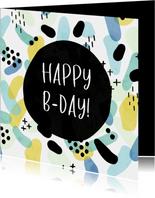 Glückwunschkarte Geburtstag Muster mit Punkten