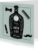 Glückwunschkarte Geburtstag Whisky