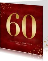 Glückwunschkarte goldene 60