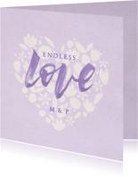 Glückwunschkarte Hochzeit Papercut und Lettering