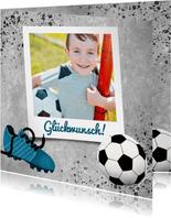 Glückwunschkarte mit Foto für Fußballfan