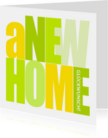 Glückwunschkarte New Home