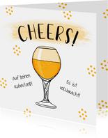 Glückwunschkarte Ruhestand 'Cheers'