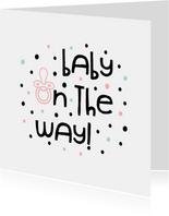 Glückwunschkarte Schwangerschaft baby on the way Punkte