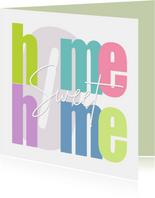 Glückwunschkarte Umzug 'Home sweet home'