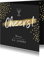 Glückwunschkarte zum Geburtstag Cheers Herzchen