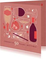 Glückwunschkarte zum Geburtstag 'Cheers'